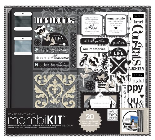Scrapbooking Box Kit, Black and White, Neutral Memories
