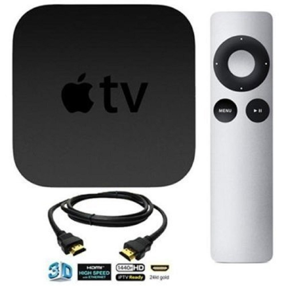 Apple TV Streaming Media Player Bundle including DeOrz High-Speed 10 Foot HDMI Cable