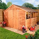 BillyOh Rustic Overlap Apex Best Selling Garden Shed (10 x 8)