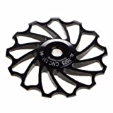 Sannysis 13T MTB Ceramic Bearing Jockey Wheel Pulley Road Bike Bicycle Rear Derailleur (Black) (Color: Black, Tamaño: 13 T)