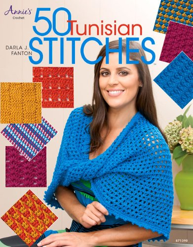 50 Tunisian Stitches Guide Book by Annie's Crochet
