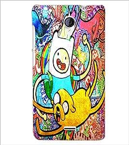 PrintDhaba Graffiti D-3896 Back Case Cover for MICROMAX A106 UNITE 2 (Multi-Coloured)
