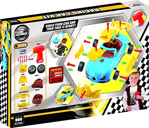 construction toy racing car kit for kids tg642