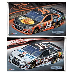 NASCAR #14 Tony Stewart Flag 3x5 Large Flag 2014 2 Sided Bass Pro Race Car &... by WinCraft