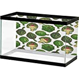 homecoco Fish Tank Artichoke,Hand Drawn Healthy Foods in Various Forms Organic Natural Gourmet Artwork Print, Fern Green with Sticker on The Backside (Color: Design02, Tamaño: 24
