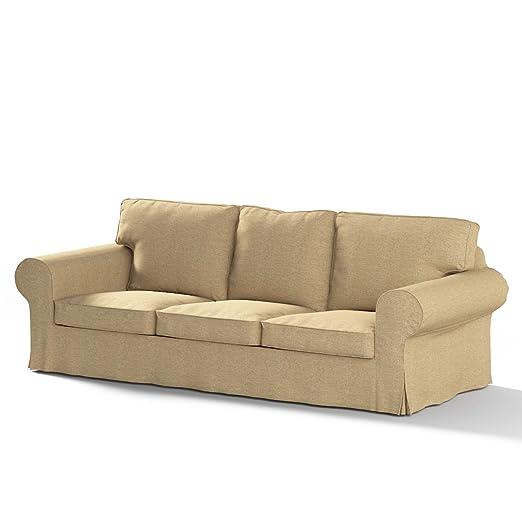 Dekoria Rivestimento per divano Ektorp a 3 posti non apribile Rivestimento per divano, copridivano, fodere, adatto al modello Ikea Ektorp, beige