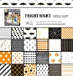 American Crafts 48 Sheet Halloween Patterned Paper Pad Fright Night, 12 x 12\