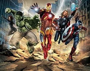 Walltastic 8 x 10 ft avengers wallpaper mural for Avengers wall mural amazon