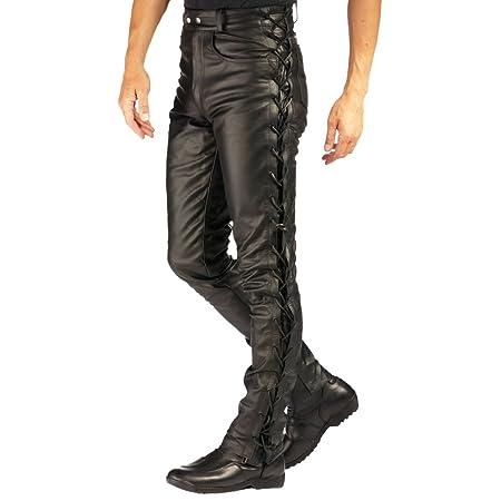 Roleff Racewear 342 Pantalon Cuir avec Laçage Latéral, Noir, 42