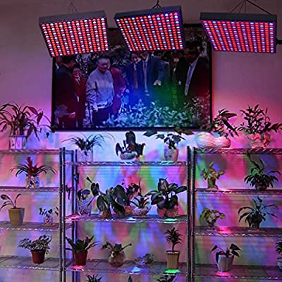 THG 45W 225 SMD LED Hydroponic Plant Grow Light & Lighting Panel Blue + Red Indoor Garden Hydroponics System Vegetables(165 Red + 60 Blue)