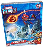Marvel Heroes 100-Piece Jigsaw Puzzle with Fantastic Four, Spiderman, Storm and Silver Surfer