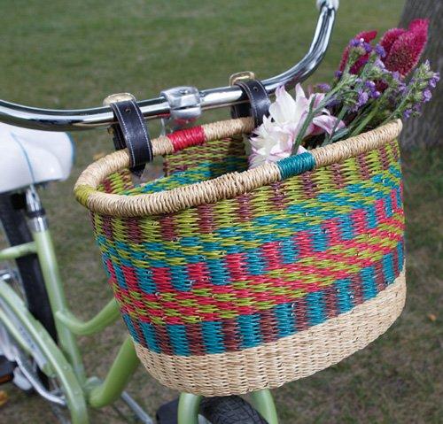 Bolga Bicycle Basket - Fair Trade and Hand Made