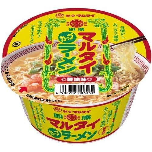 マルタイ カップ・マルタイラーメン醤油味 84g×12個