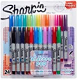 Sharpie Ultra-Fine Point Permanent Marker, Assorted Colors, 24-Pack Electro Pop Colors