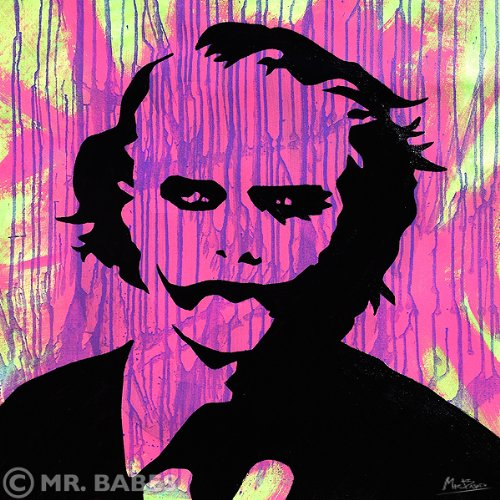 "Mr. Babes ""The Joker"" Original Acrylic On Canvas Pop Art Painting"