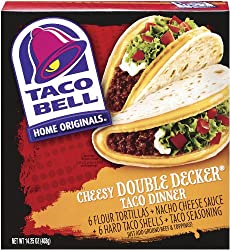 Taco Bell Home Originals Cheesy Double Decker Taco Dinner Kit, 13.86 Ounce Boxes (Pack of 10)
