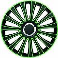 """Radzierblenden Radkappen Radabdeckung 15"""" Zoll #904 GRÜN SCHWARZ von ZentimeX auf Reifen Onlineshop"""