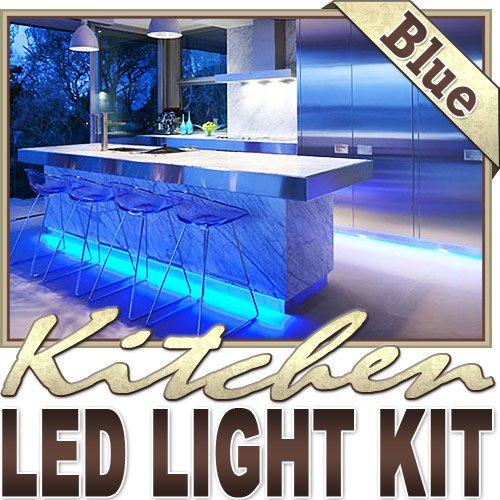 6' Ft Blue Kitchen Glass Cabinet Remote Controlled Led Strip Lighting Smd3528 Wall Plug - Under Counters, Microwave Area, Glass Cabinets, Floor Lighting, Above/Below Cabinets Led Reading Light Strip Night Light Lamp Bulb Accent Lights Smd3528 Waterproof 3