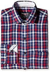 Dennison Men's Formal Shirt (SS-16-392_38_Red)