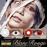 Blanc Rouge カラコン 赤/白 ワンデー 度なし 1箱6枚 ブランルージュ 1DAY カラコン  (ホワイト)