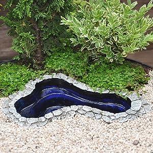 Miniature fairy garden garden pond medium for Garden pond amazon