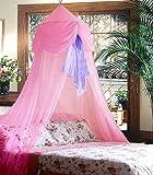 Pink & Purple Chiffon Furbelow Princess Bed Canopy By Sid