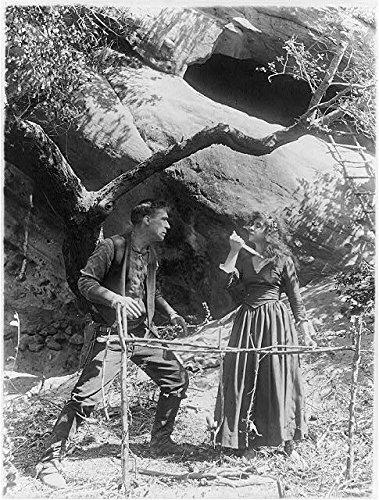Photo: Movie Still,William S. Hart,Devil'S Double,Enid Markey,Knife,Throat,1914-1926