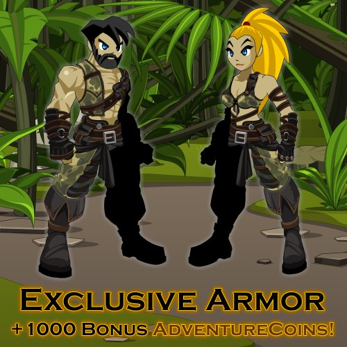 Amazon Warrior Armor: AdventureQuest Worlds [Instant