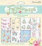 Dovecraft Forget Me Not 8 x 8 cm Decoupage Pad