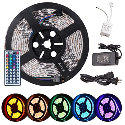 Adoric LED strip lights, 16.4ft 5m dimmable led