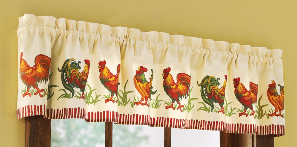 Country Farmyard Rooster Valance from Amazon!