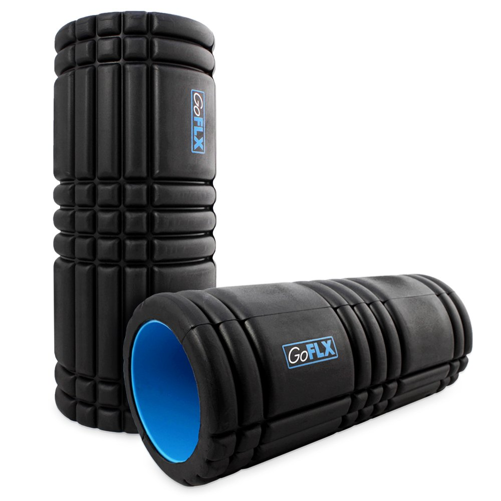 GoFLX™ High Density Therapy Foam Roller for Deep Tissue Massage - With 1 Year Guarantee new yoga pilates exercise high density eva foam massage roller fitness home gym massage