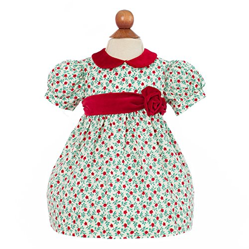Carriage Boutique Baby Girl's Holiday Dress With Flowers