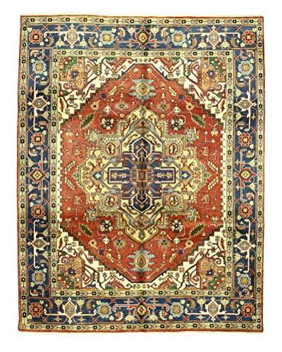 Bashian Hand Knotted Indo Rug, Rust, 7' 9 x 9' 8