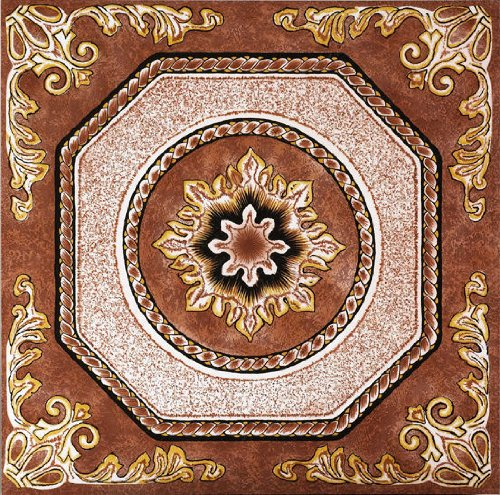 Nexus Vinyl Tile N510 Floral Self Adhesive Vinyl Floor Tiles 1 Box