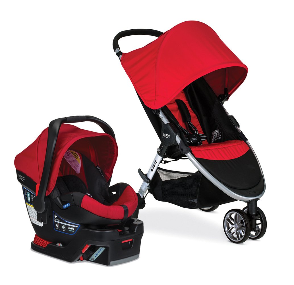 Britax 2016 B-Agile 3/B-Safe 35 Travel System, Red