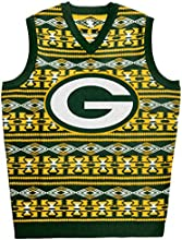 Forever Collectibles NFL Green Packers Ugly Sweater Vest, Medium, Green
