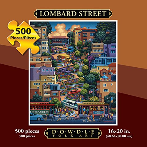 Jigsaw Puzzle - Lombard Street 500 Pc By Dowdle Folk Art
