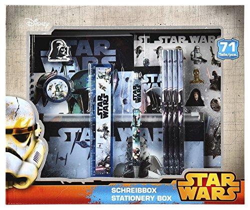 Undercover SWHX1121 - Set di articoli di cancelleria di Star Wars, 71 pezzi