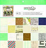 American Crafts 48-Sheet DIY Shop Paper Pad, 12 by 12-Inch