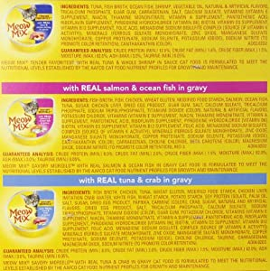 Meow Mix Selections Wet Cat Food Variety Packs