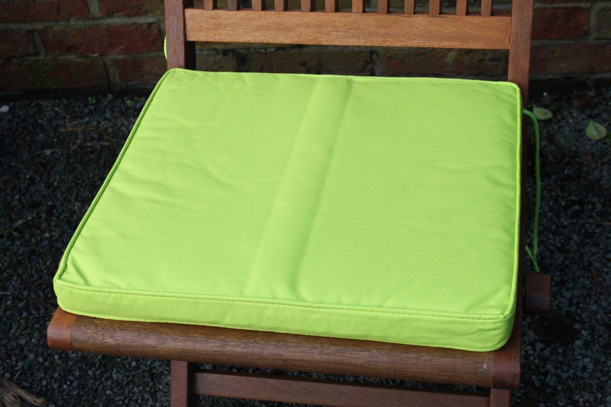 Gartenmöbel-Auflage - Sitzkissen für Gartenstuhl in Limettengrün