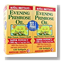 Evening Primrose Oil 1300mg Royal Brittany Twin Pack - 120+120 - Softgel