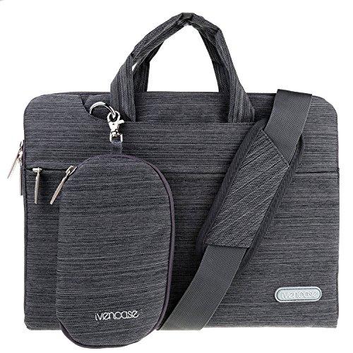 Ivencase 15 15.6 Borse Custodia con tasche Neoprene Business Sleeve per Laptop / Notebook / Computer / MacBook Pro 15.4 / MacBook Pro with Retina Display 15.4 - Grigio scuro