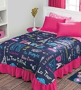 new eiffelturm paris tagesdecke set bestickt bettlaken. Black Bedroom Furniture Sets. Home Design Ideas