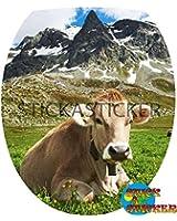 Sticker Autocollant Abattant WC Vache 35x42cm réf 330