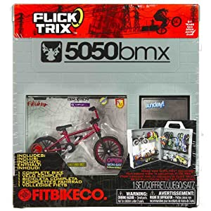 FitBikeCo: Flick Trix 5050bmx Finger Bike Service Store Display Case Set