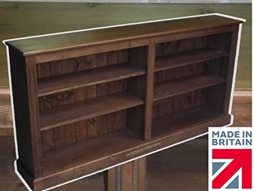 Solid Pine Bookcase, 3ft x 6ft Adjustable Display Shelving Unit, Bookshelves. No flat packs, No assembly. Choice of Colours! (BK8)