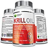 Pure Antarctic Krill Oil with Astaxanthin and K-REAL® - 1,000mg per serving - 60 Liquid Softgels - Contains DHA & EPA Omega 3's and Phospholipids - Sustainably Sourced and Third Party Tested for Maximum Freshness - Made in the USA; 100% Money Back Guarantee