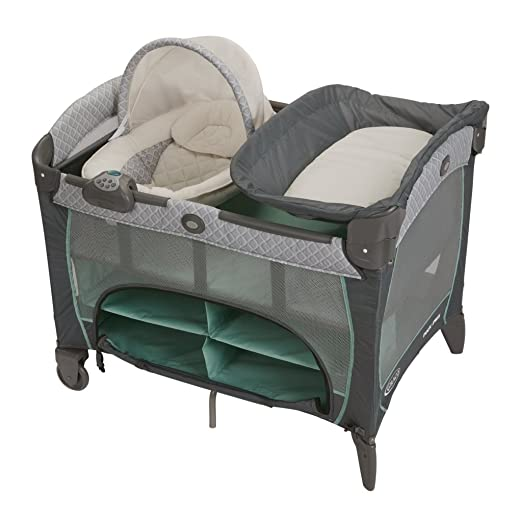 Best Pack and Play Reviews - Graco Pack 'N Playard with Newborn Napper station DLX, Manor